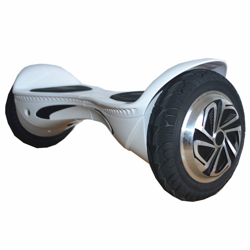White Two Wheel Hoverboard Scooter 350W 10Km / H Max. Cruise Speed