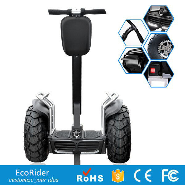 Portable 2 wheel balancing scooter , Rechargeable Electric Chariot Scooter