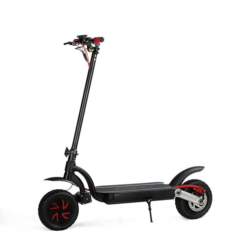 EcoRider  E4-9 10 inch Dual Motor 700w Foldable Electric Scooter With Dual Motor And Double Battery