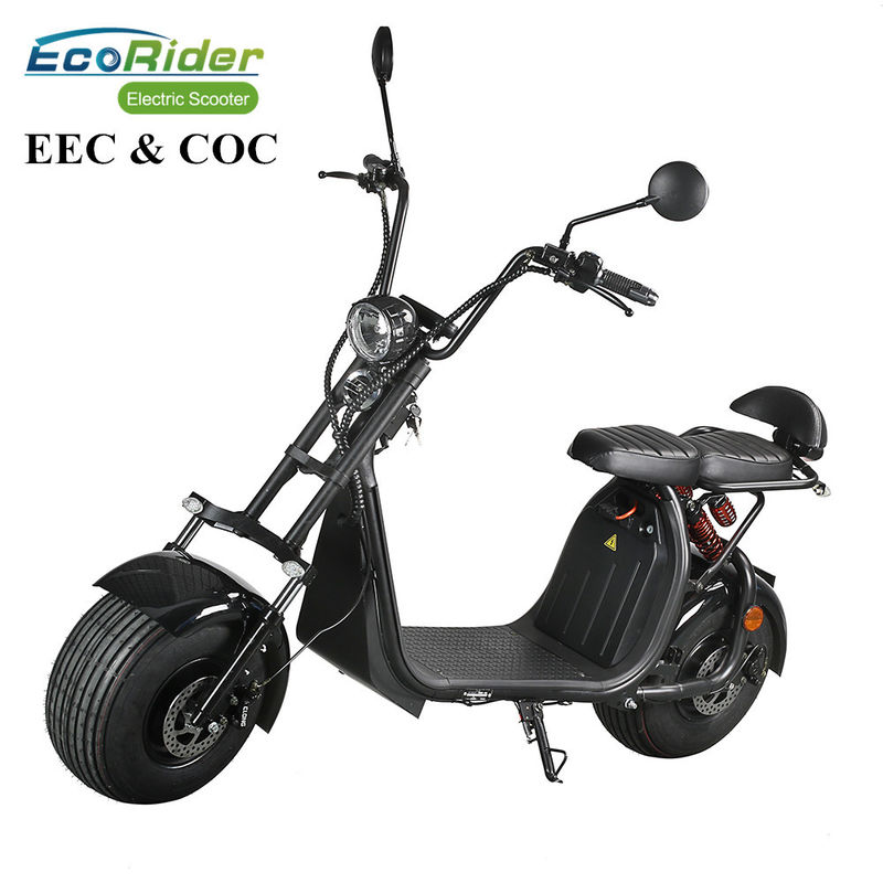 60V 12ah/20ah Two Wheels Electric Scooter EcoRider ES057 Citycoco 6-8 Hours Charging Time